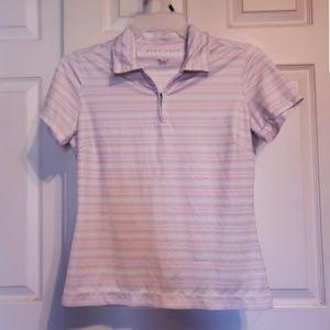 Nike golf dry fit zip up collar shirt medium